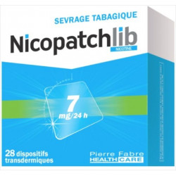 NICOPATCHLIB 7MG/24H 28 dispositifs transdermiques