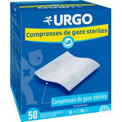 URGO Compresses de gaze stériles 10 cm x 10 cm - 50 sachets de 2