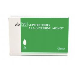 SUPPO GLYCERINE AD X25 MONOT