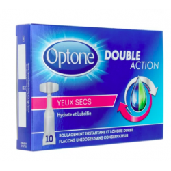 Optone double action solution oculaire Yeux secs monodose