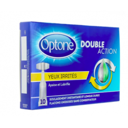 Optone double action solution oculaire yeux irrités MONODOSES YEUX IRRITES X 10