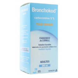 Bronchokod sans sucre adultes sirop 250 ml