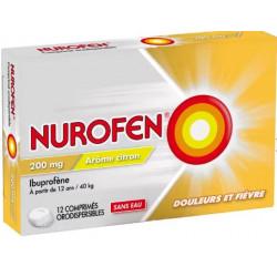 Nurofen 200mg citron 12 comprimés orodispersibles