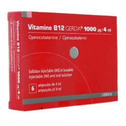 Vitamine B12 Gerda solution injectable et buvable 6 ampoules