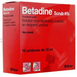 Betadine Scrub 4% solution 10 unidoses