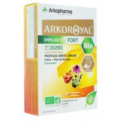 Arkoroyal Bio Immunité Fort 1ers signes 20 ampoules