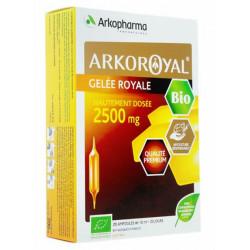Arkoroyal Gelée royale Bio 2500 mg ampoules
