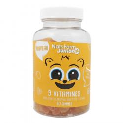 Nat & Form Junior + 9 vitamines 60 oursons