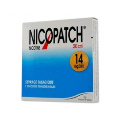 Nicopatch 14mg/24h dispositif transdermique 7 patchs